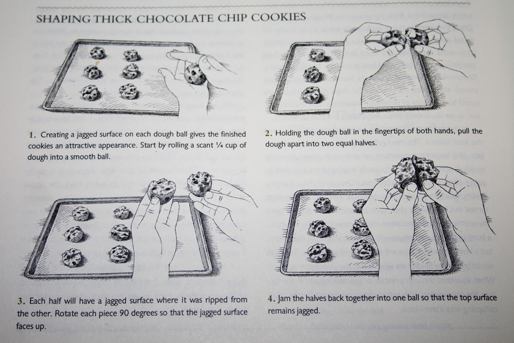 chocolate chip cookie instructions