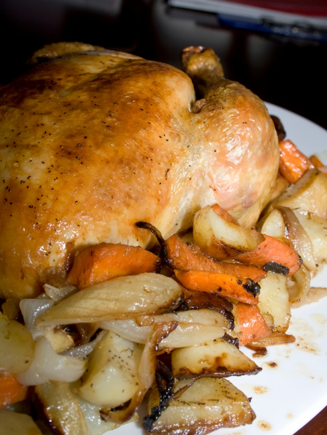 Perfect Roast Chicken and Vegetables – Bakerlady