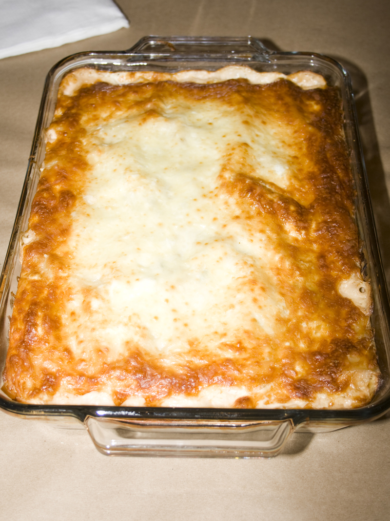 Creamy White Chicken and Artichoke Lasagna01