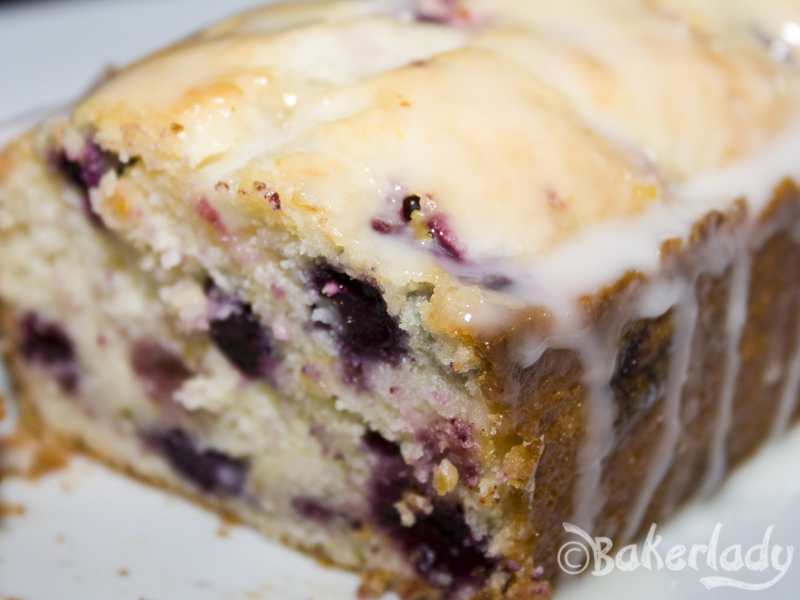 Double Glazed Lemon Blueberry Pound Cake - Bakerlady