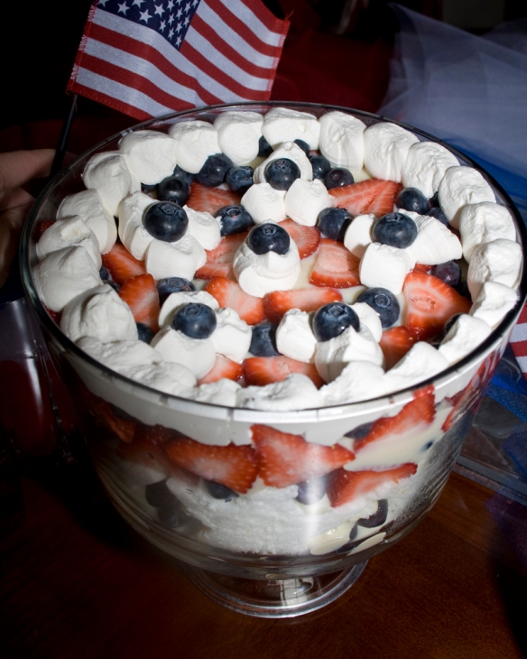 Red White and Blue Berry Trifle07