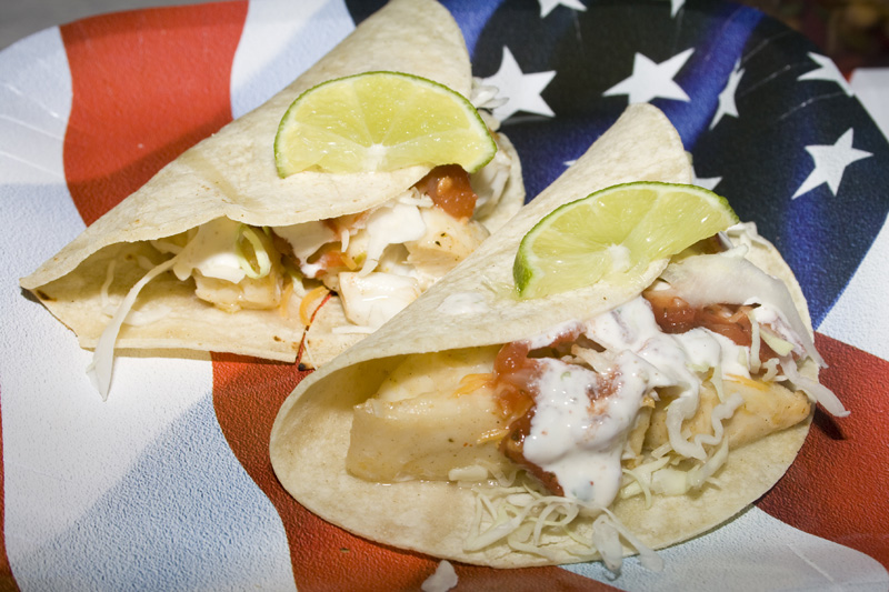 Fish Tacos with Cilantro Lime Sour Cream | Bakerlady