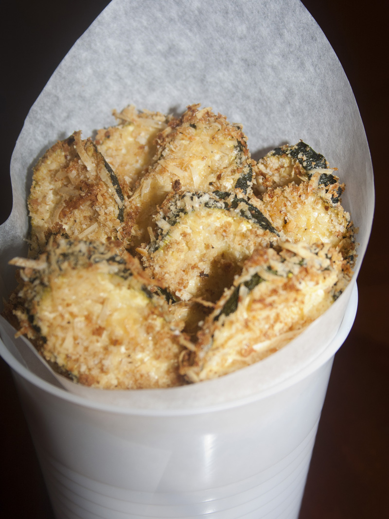 Oven Baked Zucchini Chips | Bakerlady