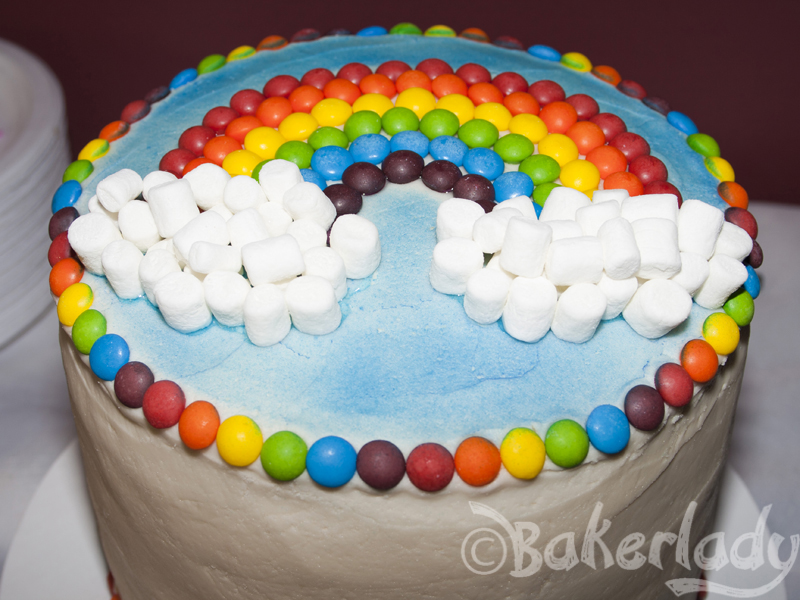 Rainbow Happiness Six Layer Cake Bakerlady