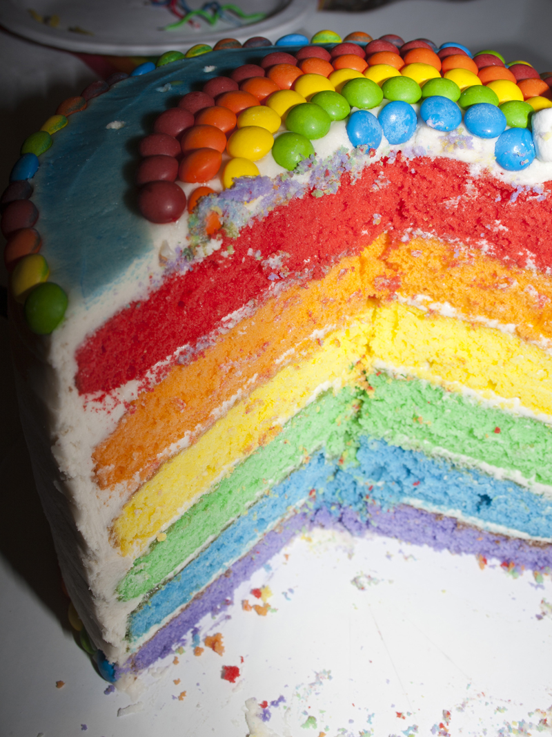 Rainbow Happiness Six Layer Cake | Bakerlady