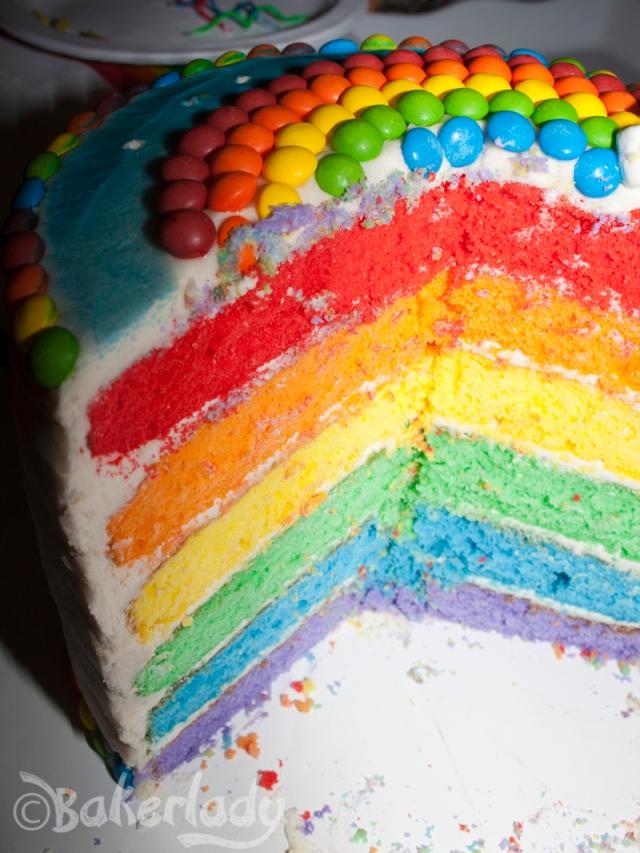 Rainbow Cake - Bakerlady