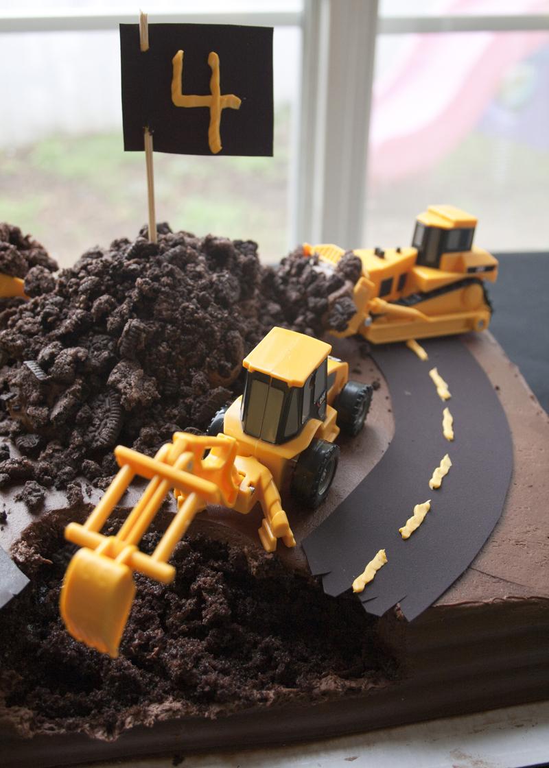 Road Construction Birthday Cake