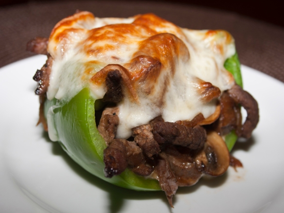 Philly Cheesesteak Stuffed Peppers - Bakerlady