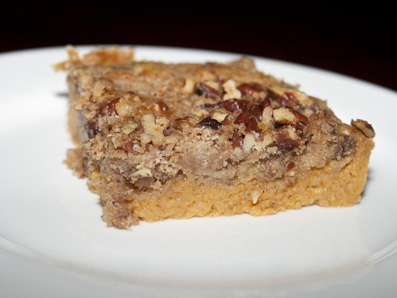 Pumpkin Crunch Cake. A combo of pumpkin pie and pecan pie. I Bakerlady