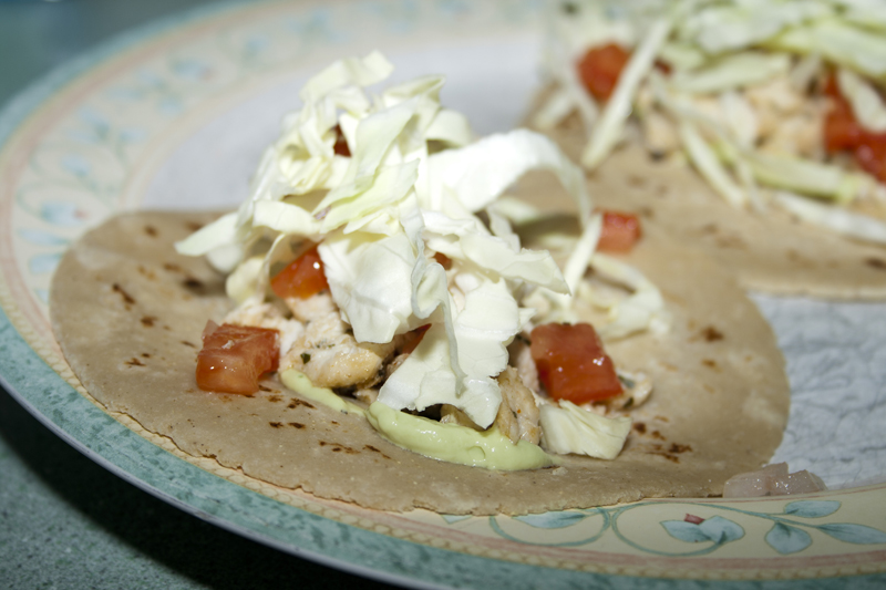 Fish Tacos with Tequila Lime Avocado Creme – Bakerlady