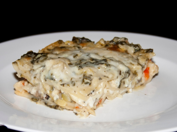 Delicious White Vegetable Lasagna - Bakerlady