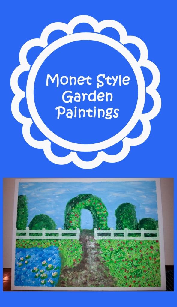 Monet Style Garden Paintings