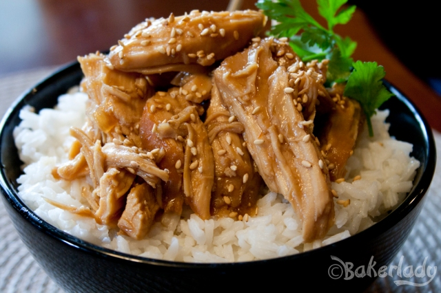 Slow Cooker Honey Sesame Chicken - Bakerlady