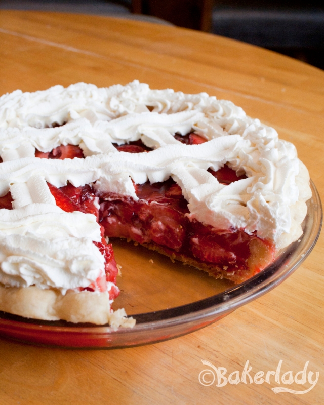 Easy Strawberry Pie - Bakerlady