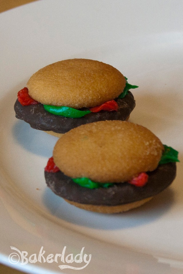 Hamburger Cookies - Bakerlady