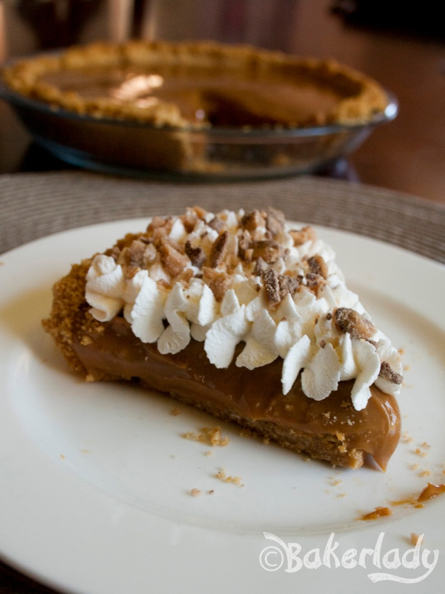 Oooey Gooey Sinful Caramel Pie - Bakerlady