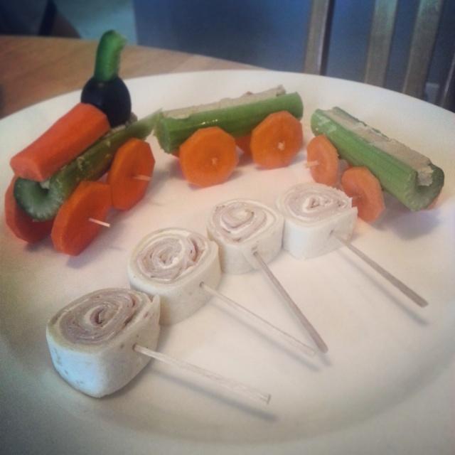 Veggie Train and Lunchtime Lollipops - Bakerlady