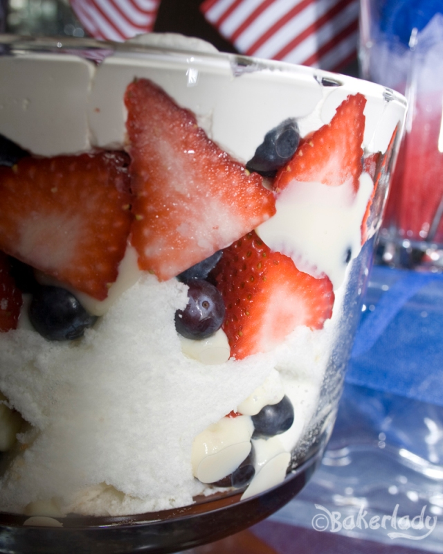 Red White and Blue Berry Trifle - Bakerlady