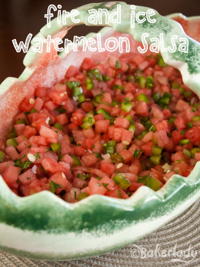 Fire and Ice Watermelon Salsa - Bakerlady