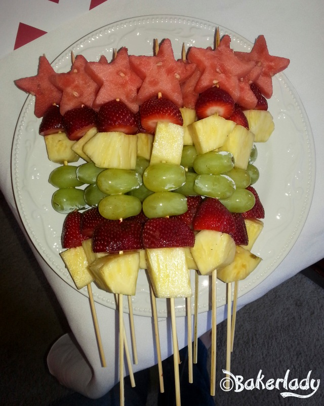 Fresh Fruit Kabobs With Watermelon Stars