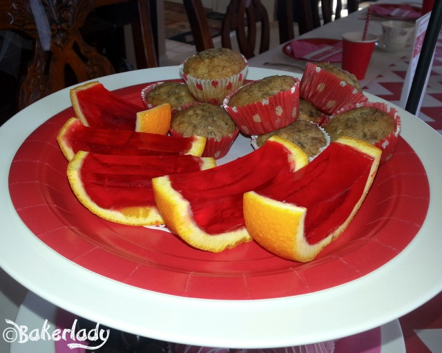 Fruit Muffins With Jello Smiles