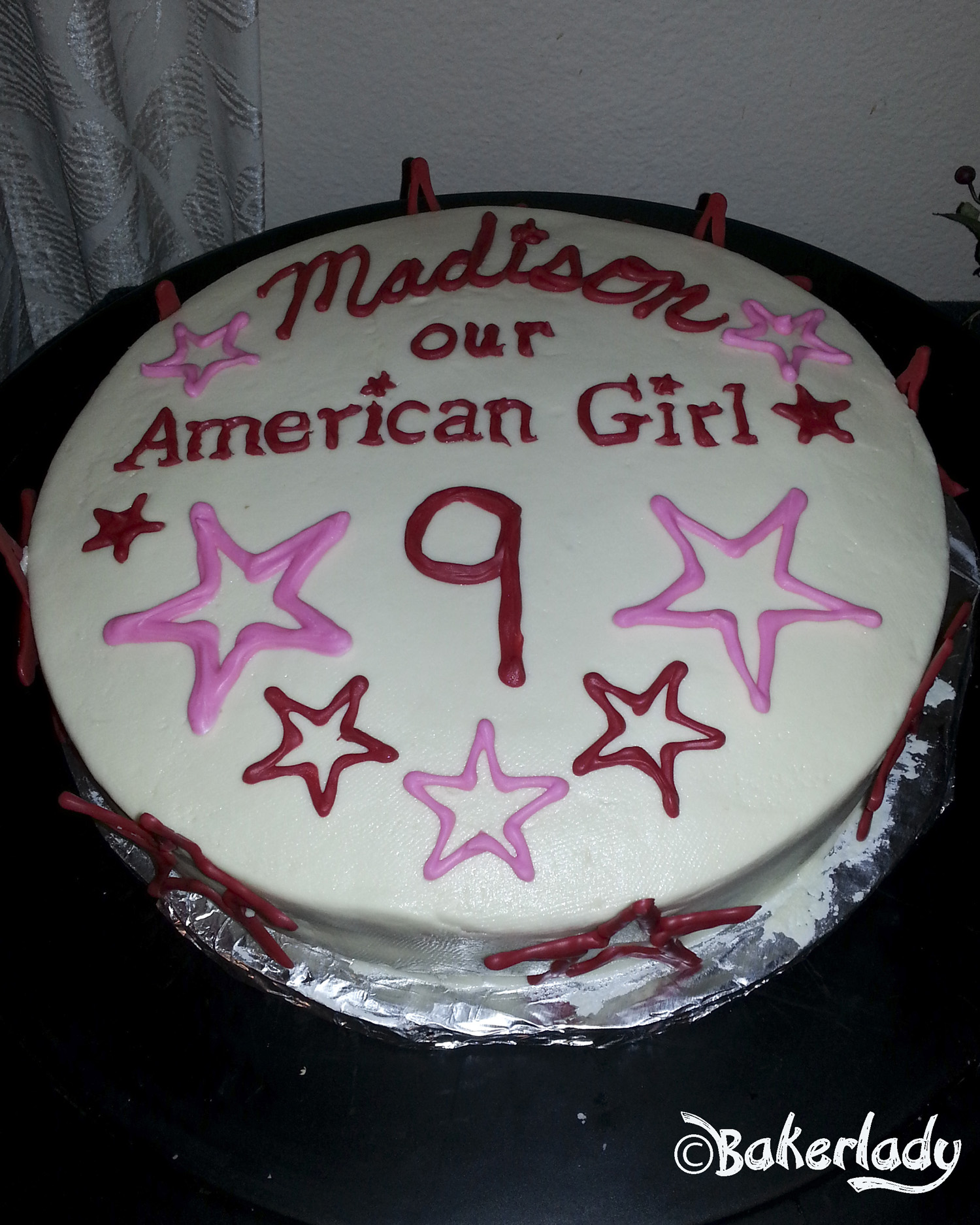 Swell American Girl Birthday Cake Bakerlady Personalised Birthday Cards Paralily Jamesorg