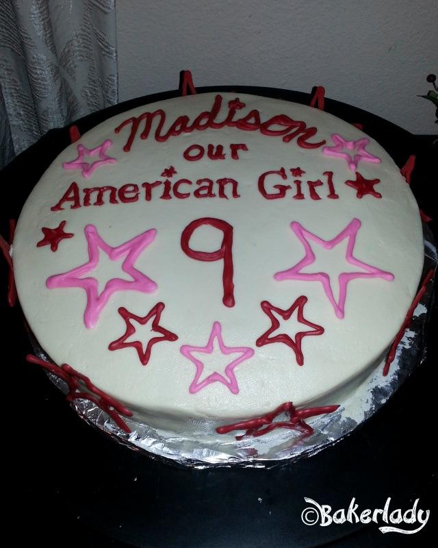 Terrific American Girl Birthday Cake Bakerlady Personalised Birthday Cards Paralily Jamesorg