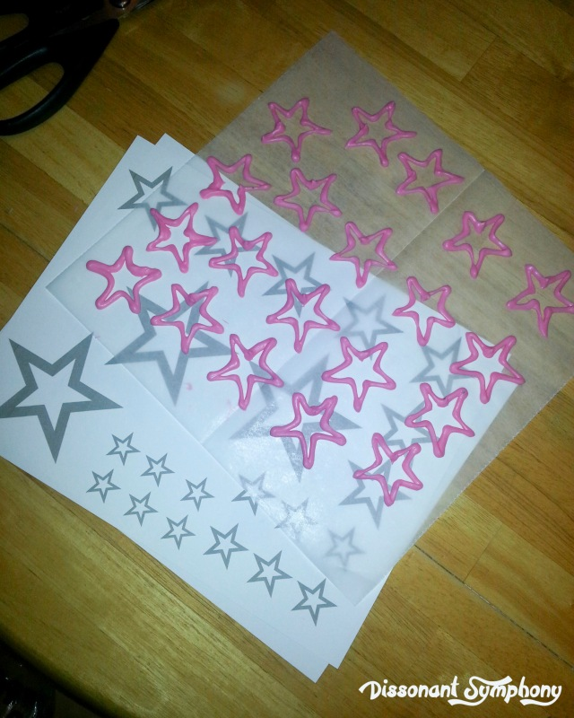 Candy Melt Star Tracing