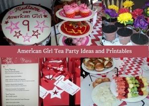 American Girl Tea Party Ideas and Printables - Bakerlady